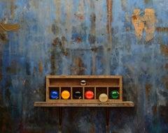 Juego de Bolas III - Oil Painting, Hyperrealism, Contemporary, Art, Luis Gomez