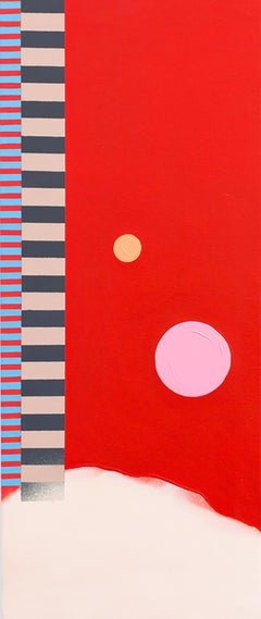 Abstract 149 - Abstract Painting, Patterns, Red, Contemporary, Art, Mireia Ruiz
