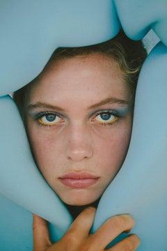 Blue Moon - Fine Art Photography, Blue, Portrait, Contemporary, Martina Matencio