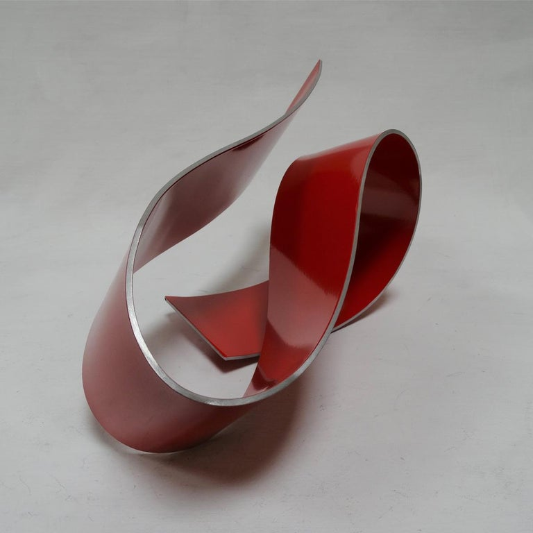 Línies 20 - Abstract, Outdoor Sculpture, Contemporary, Art, Red, Rafael Amorós For Sale 5