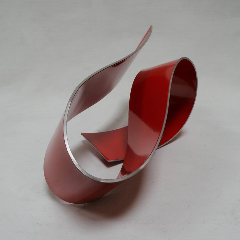 Línies 20 - Abstract, Outdoor Sculpture, Contemporary, Art, Red, Rafael Amorós For Sale 6