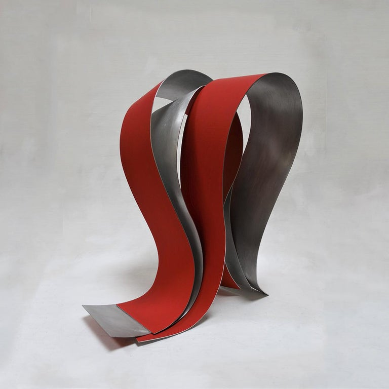 Acull 60 - Abstract, Outdoor Sculpture, Contemporary, Art, Red, Rafael Amorós For Sale 1
