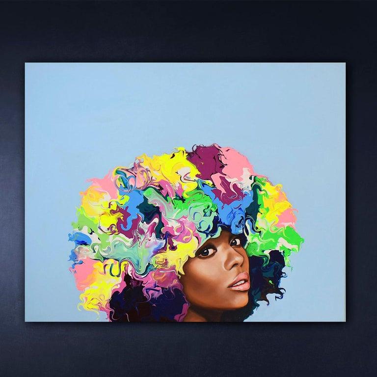 Jada Figurative Painting Pop Art Portrait Blue Contemporary Art Yeliza