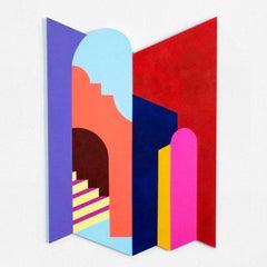 Laribal - Abstract Painting, Wall Sculpture, Contemporary Art, Marina Esmeraldo