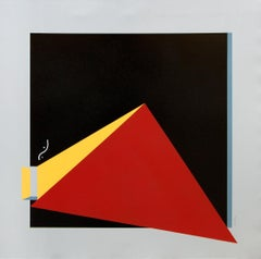 No Comment 7 - Abstract Geometric Painting, Red, Contemporary, Acacio Viegas