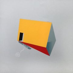 No Comment 8 - Abstract Geometric Painting, Red, Contemporary, Acacio Viegas