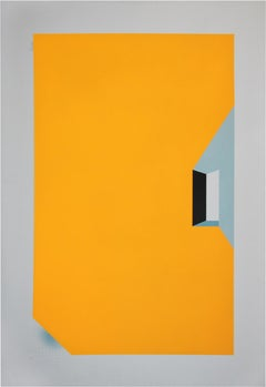 No Comment 9 - Abstract Geometric Painting, Yellow, Contemporary, Acacio Viegas
