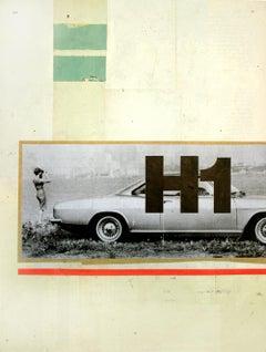 Bay View - Collage, Mixed Media, Vintage, Car, Contemporary, Art, Kareem Rizk