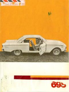 Falcon - Collage, Mixed Media, Vintage, Car, Contemporary, Art, Kareem Rizk