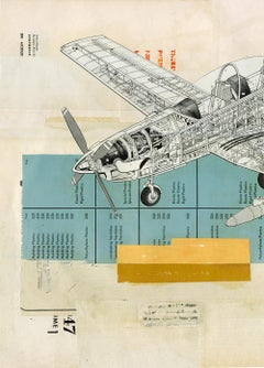 Fuselage - Collage, Mixed Media, Vintage, Air, Contemporary, Art, Kareem Rizk