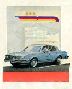 Goodbye - Collage, Mixed Media, Vintage, Contemporary, Car, Art, Kareem Rizk