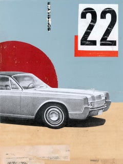 Lincoln nº4 - Collage, Mixed Media, Vintage, Contemporary, Car, Art, Kareem Rizk