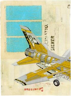 Jet nº2 - Collage, Mixed Media, Vintage, Contemporary, Art, Kareem Rizk