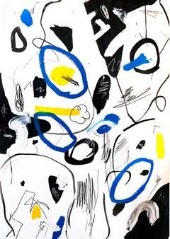 Hallazgo I - Abstract Painting, Oil on Paper, Contemporary, Art, Antonio Santafé