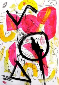 Hallazgo II - Abstract Painting, Oil, Paper, Contemporary, Art, Antonio Santafé