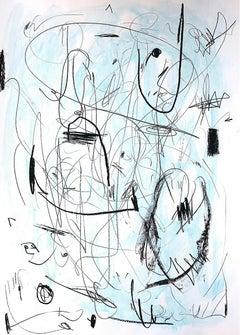 Hallazgo III - Abstract Painting, Oil, Paper, Contemporary, Art, Antonio Santafé