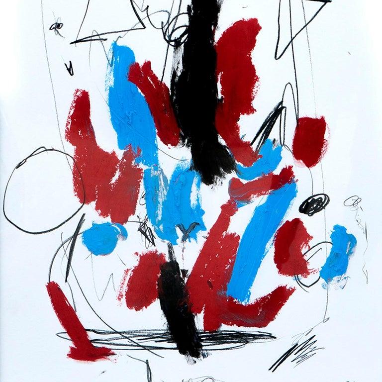 Hallazgo IX - Abstract Painting, Oil, Paper, Contemporary, Art, Antonio Santafé For Sale 2