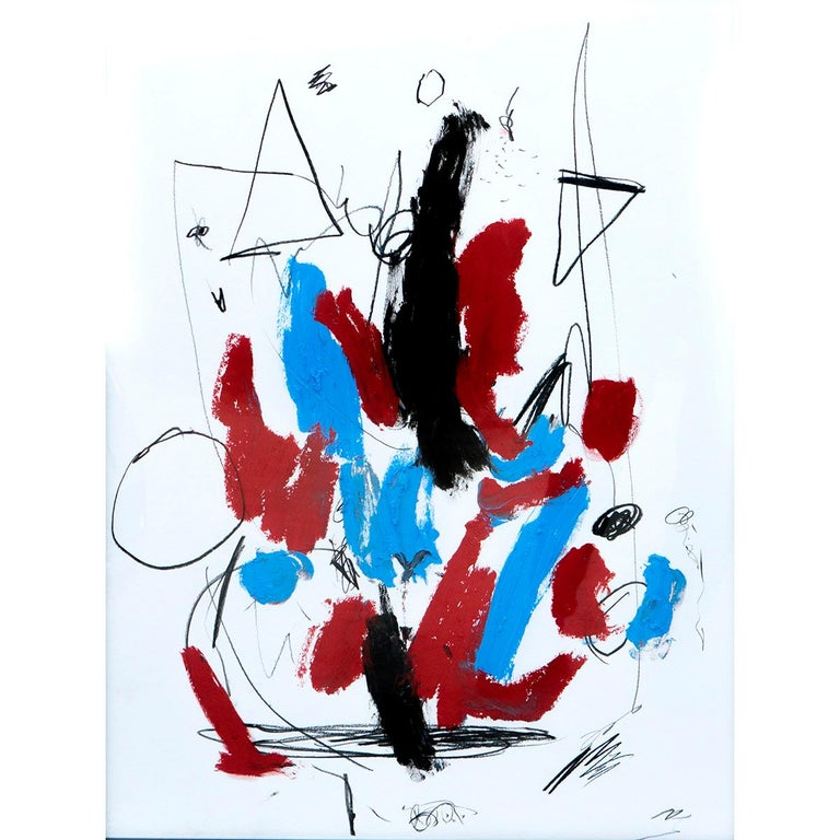 Dynamism and creative freedom are a constant element in Antonio Santafé's work. His paintings show the artist's intuition when designing his compositions and his effusive work with contrast and colour. His loose and gestural brushstrokes made by