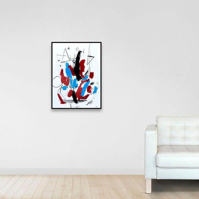 Hallazgo IX - Abstract Painting, Oil, Paper, Contemporary, Art, Antonio Santafé For Sale 3