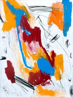 Hallazgo XII - Abstract Painting, Oil, Paper, Contemporary, Art, Antonio Santafé