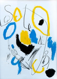 Hallazgo XV - Abstract Painting, Oil, Paper, Contemporary, Art, Antonio Santafé