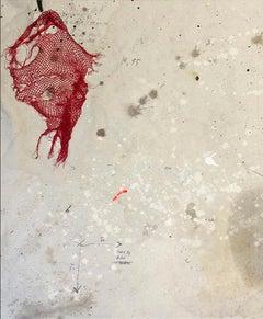 Doña Gloria - Abstract Painting, Acrylic, Contemporary, Art, Red, Armando Mesías