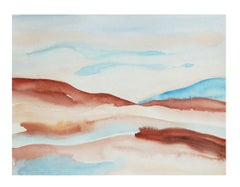 Badlands 3 - Watercolour, Fine Art Paper, Contemporary, Pink, Aubrienne Bergeron