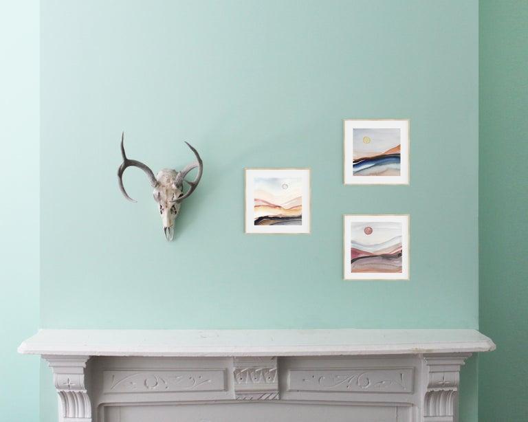 Painted Moon 5 - Watercolour, Fine Art Paper, Contemporary, Aubrienne Bergeron For Sale 3