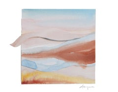 Sand & Sky 3 - Watercolour, Fine Art Paper, Contemporary, Aubrienne Bergeron