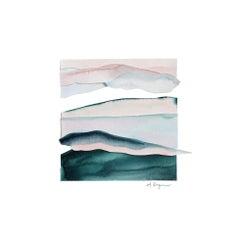 Lake View 1 - Watercolour, Fine Art Paper, Contemporary, Aubrienne Bergeron