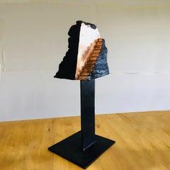 Stairs 003 - Bronze Sculpture, Contemporary, Art, Golden, Wood, Jordi Sarrate