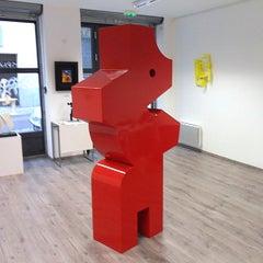 Le Rêveur 02 - Abstract Sculpture, Red, Contemporary, Art, Nicolas Dubreuille
