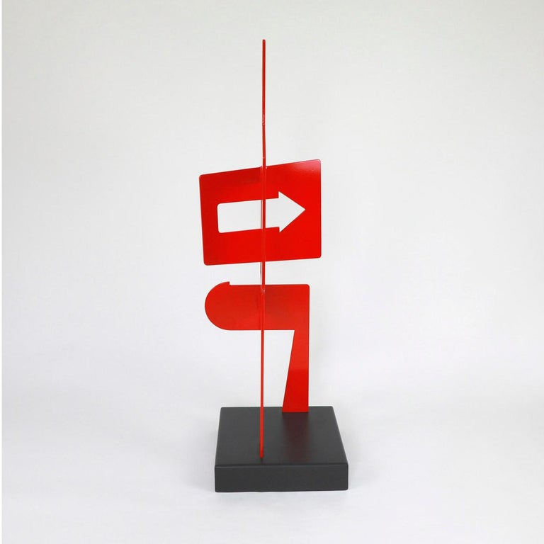 Sans Titre 252 - Abstract Sculpture, Contemporary, Art, Red, Nicolas Dubreuille For Sale 1