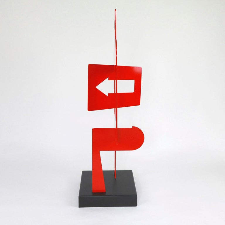 Sans Titre 252 - Abstract Sculpture, Contemporary, Art, Red, Nicolas Dubreuille For Sale 2