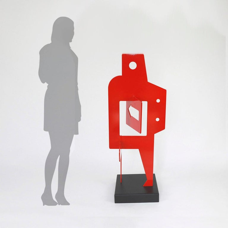 Sans Titre 252 - Abstract Sculpture, Contemporary, Art, Red, Nicolas Dubreuille For Sale 3