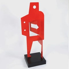 Sans Titre 252 - Abstract Sculpture, Contemporary, Art, Red, Nicolas Dubreuille