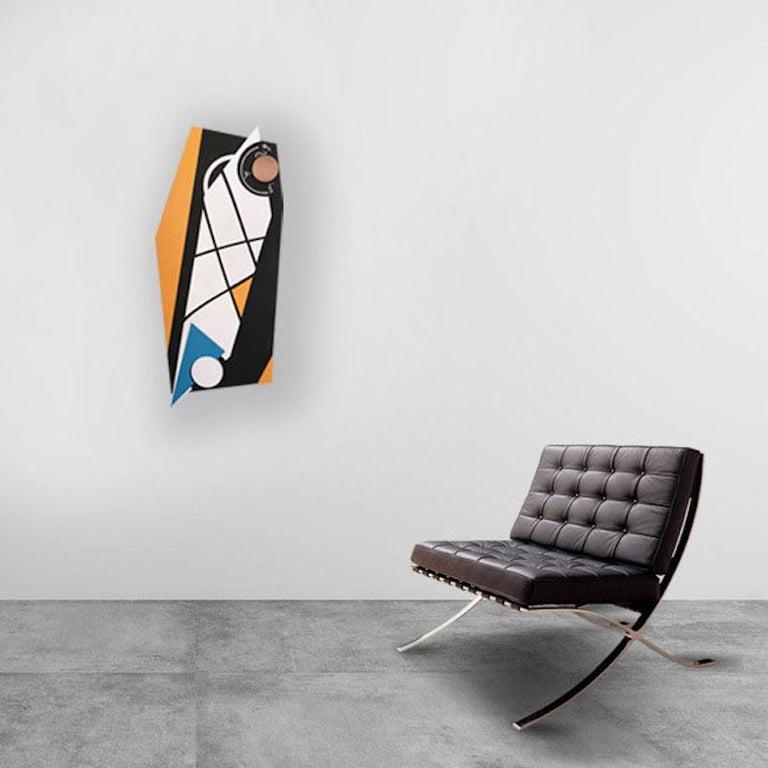 Evolutionary #10 - Abstract Sculpture, Wood, Acrylic, Geometric, Acacio Viegas For Sale 2