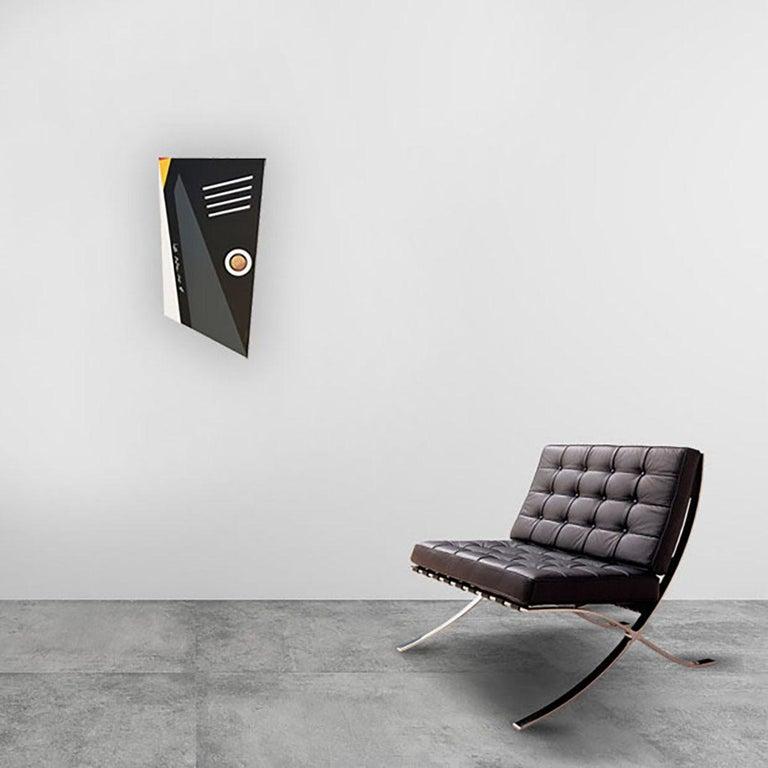 Evolutionary #11 - Abstract Sculpture, Wood, Acrylic, Geometric, Acacio Viegas For Sale 1