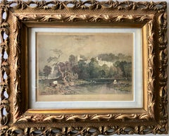 English Hand Colored Steel Engraving, By Thomas ALLOM, A Pastoral Scene, 1850's