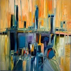 Magic Space - Bruno Cantais - Oil on canvas - Modern art - 21 th century