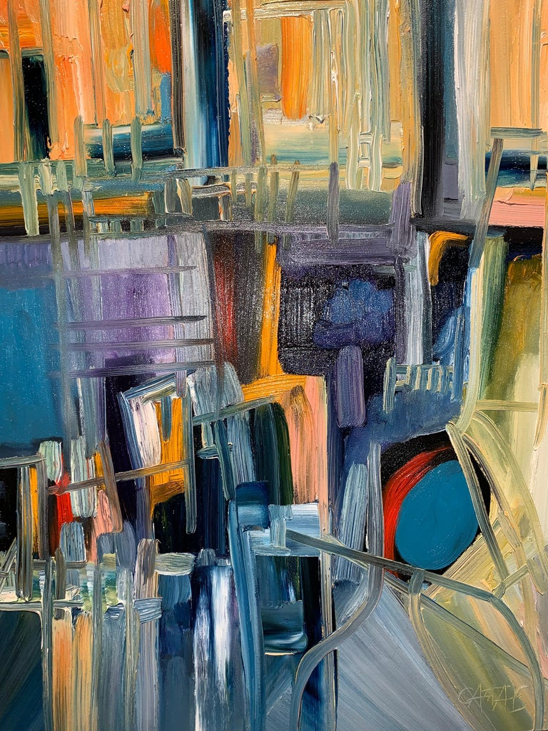 Magic Space - Bruno Cantais - Oil on canvas - Modern art - 21 th century  For Sale 3