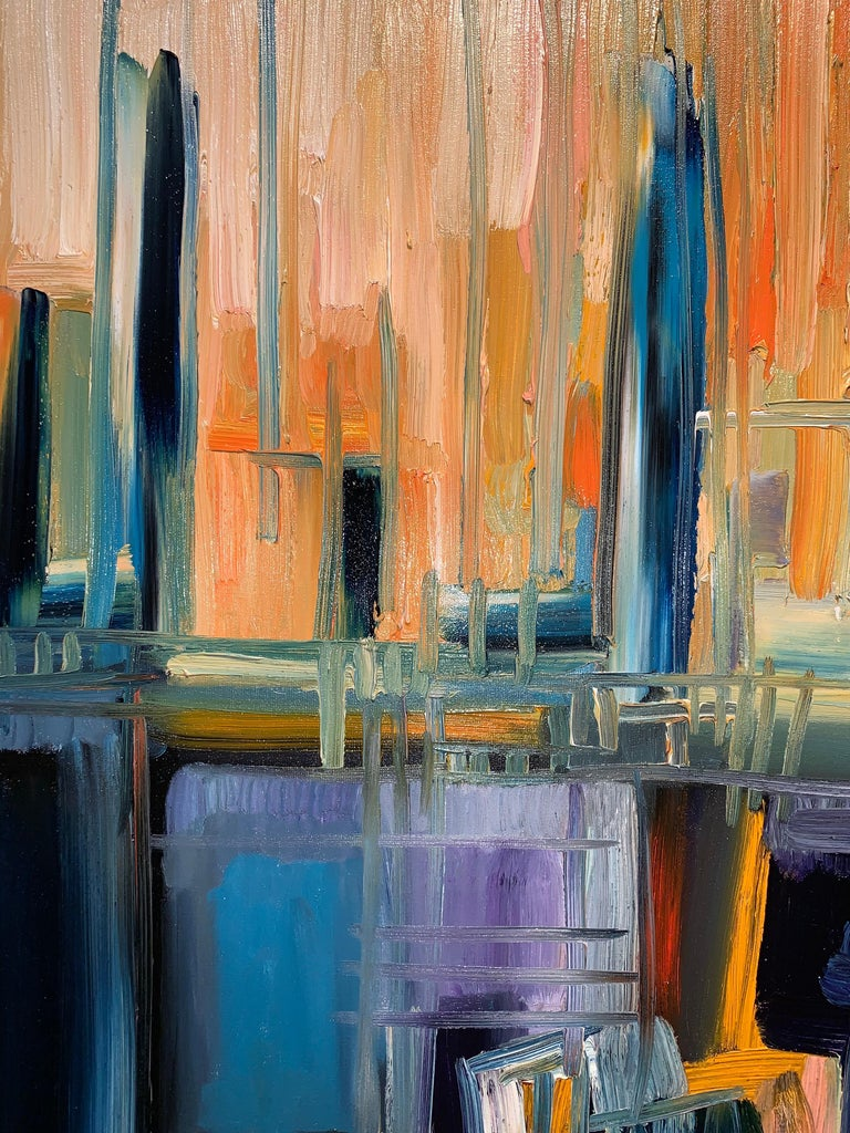 Magic Space - Bruno Cantais - Oil on canvas - Modern art - 21 th century  For Sale 6