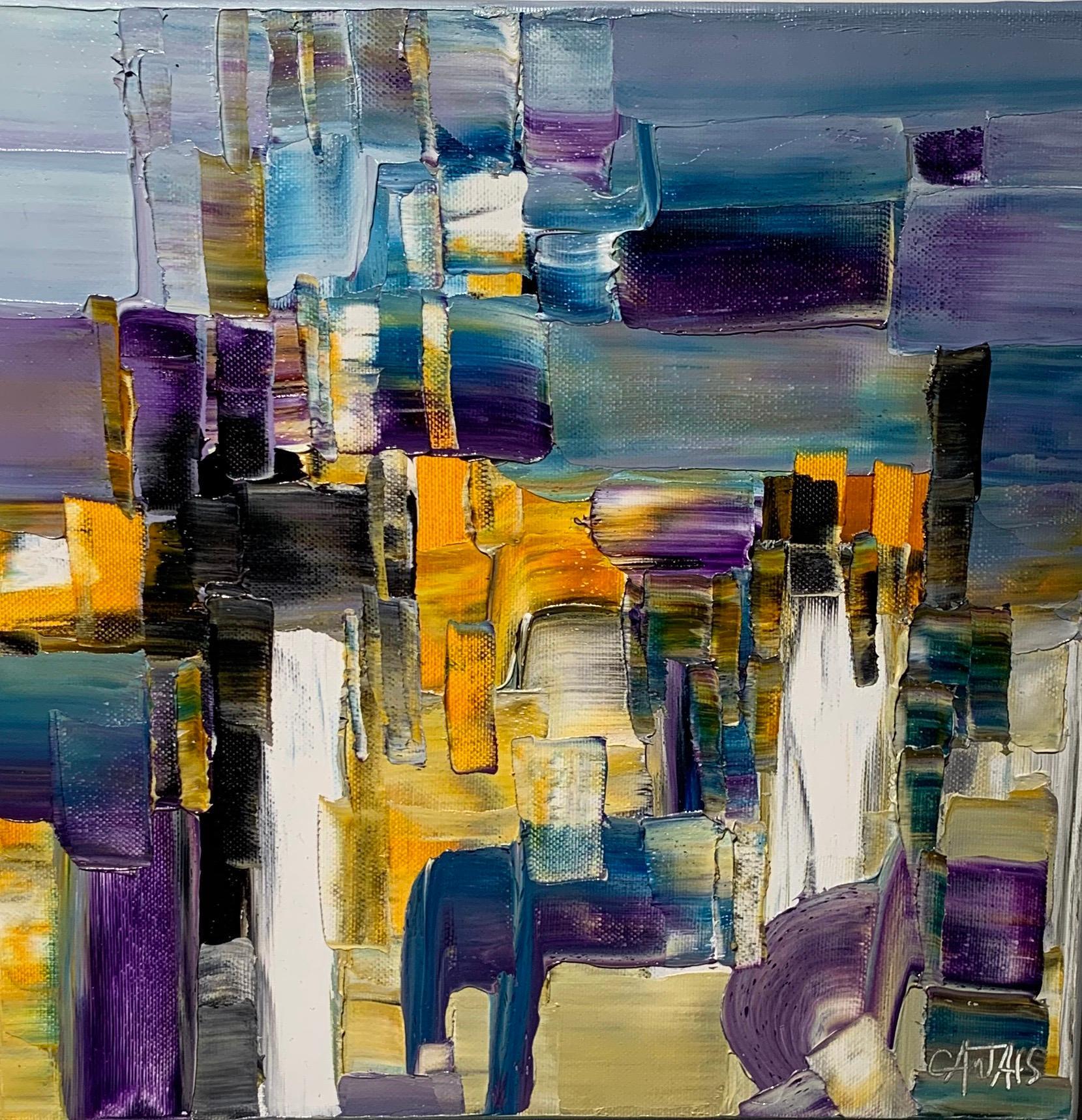 Composition abstr - Bruno Cantais - Oil on canvas - Modern art - 21 th century