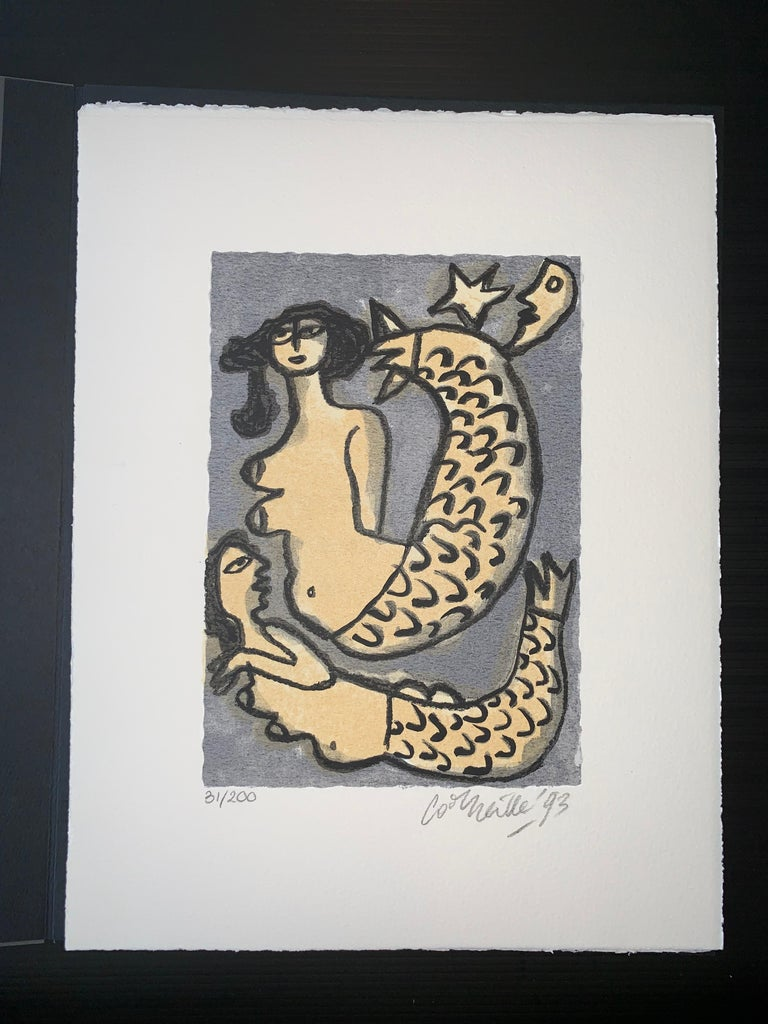 Les Mémoires de Bali II - Cobra, 20th century, 31/200, Portfolio 3 screen print - Print by Guillaume Cornelis van Beverloo (Corneille)
