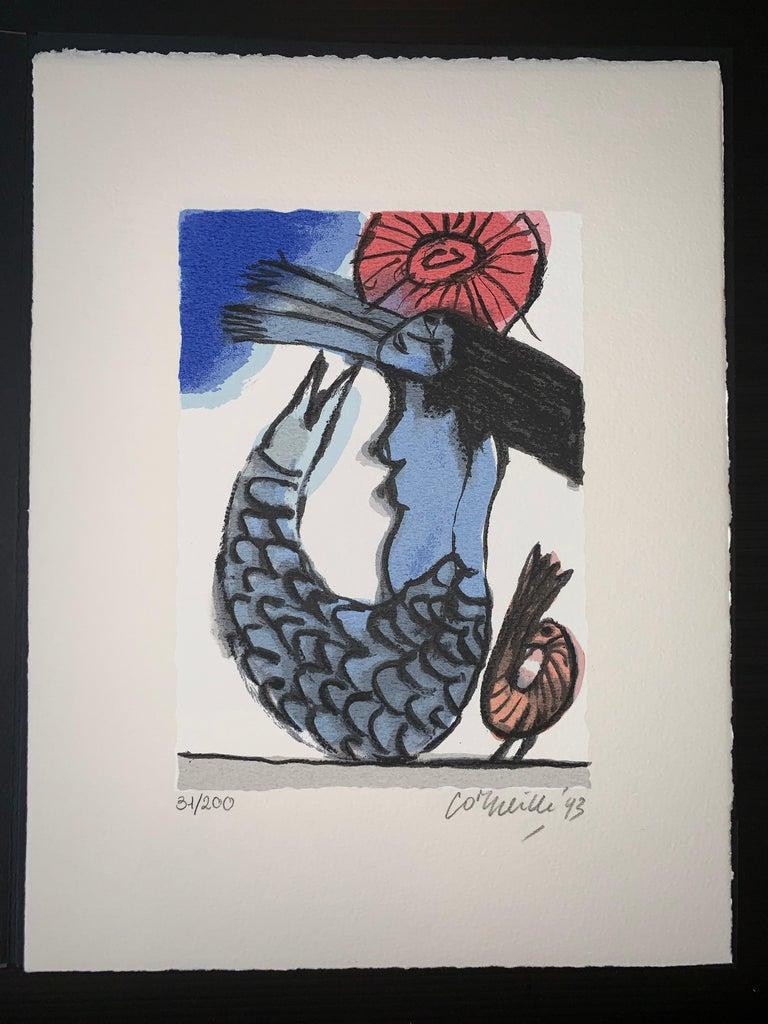 Les Mémoires de Bali II - Cobra, 20th century, 31/200, Portfolio 3 screen print For Sale 2