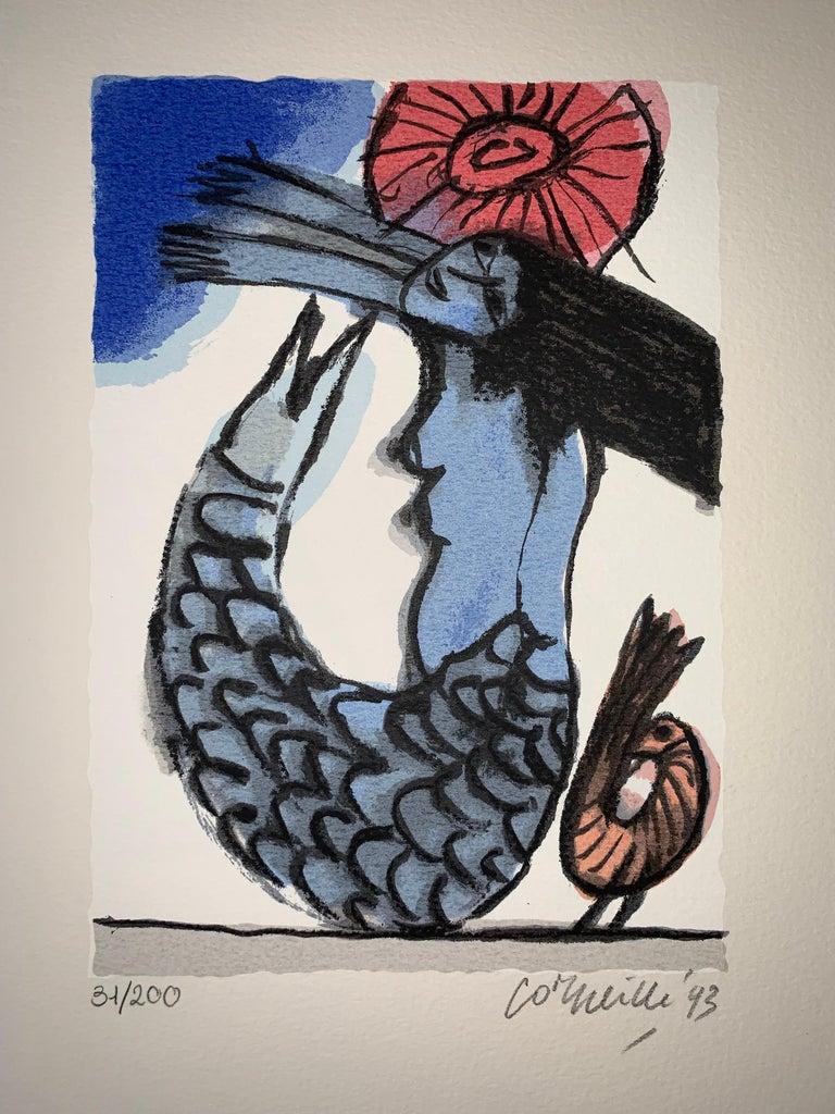 Les Mémoires de Bali II - Cobra, 20th century, 31/200, Portfolio 3 screen print For Sale 5