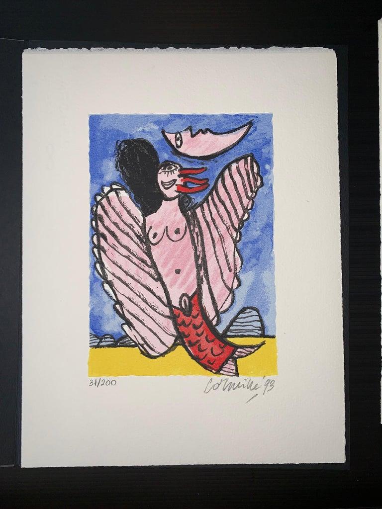 Les Mémoires de Bali II - Cobra, 20th century, 31/200, Portfolio 3 screen print For Sale 6