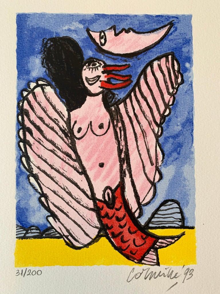 Les Mémoires de Bali II - Cobra, 20th century, 31/200, Portfolio 3 screen print For Sale 9