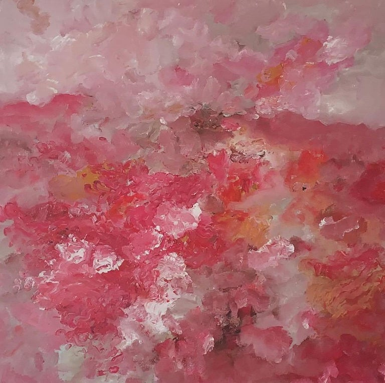 Landschaft  - Giclee - 2018 - Armando - hand-signed - Edition: 25 - 2018 - Pink Abstract Print by Armando