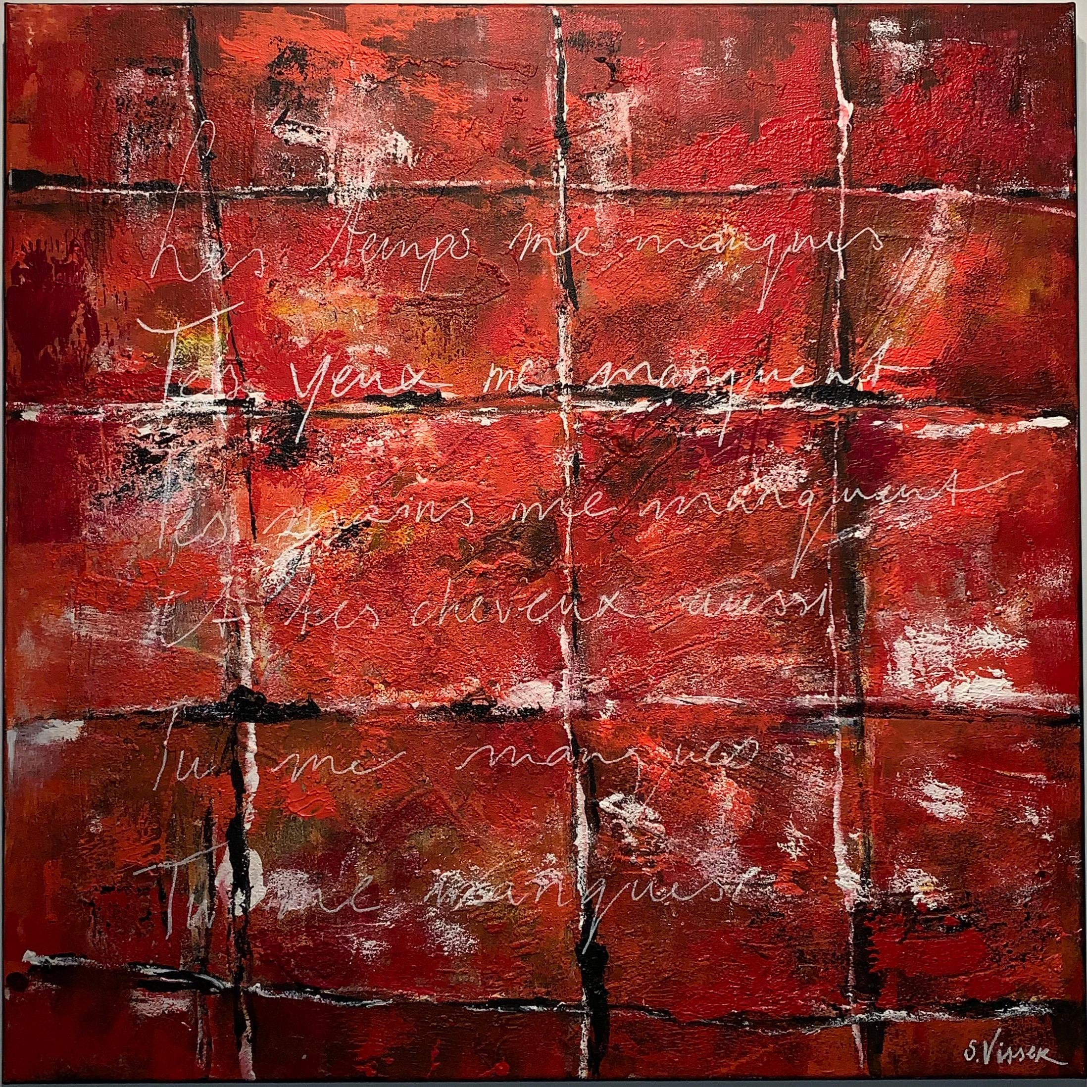 Tu me Manques - Acryl on canvas - Mixed technique - Handsigned Cert. of auth.